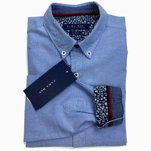 Zara Man Slim Fit Oxford Flip Cuff Button Down.